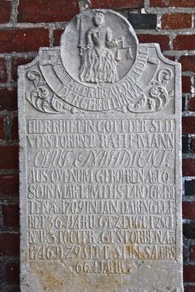 Die Tugend der Gerechtigkeit, Friedhof Nieblum auf Föhr