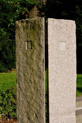 Individuelle Grabstele, HSV-Grabfeld, Friedhof Altona, Hamburg