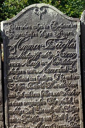 Weibliche Inselbiographien im 17. und 18. Jahrhundert, Friedhof Nebel auf Amrum