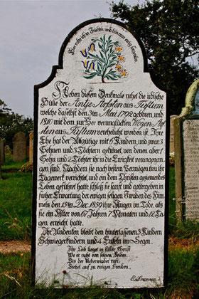 Blumensymbolik, Friedhof Süderende auf Föhr