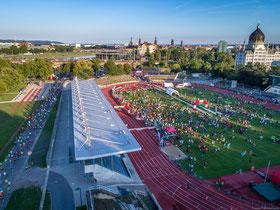 Laufevent, Dresden, Laufszene, Fitness, Drohne, Filmproduktion