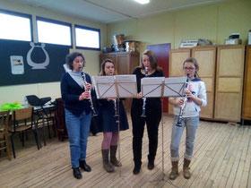 Ecole de musique Selloise - Cours de musique à Selles-sur-Cher - Leçons de clarinette avec Virginie Geiger
