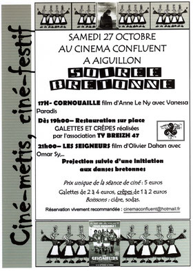Réservation renseignement: cinemaconfluent@hotmail.fr