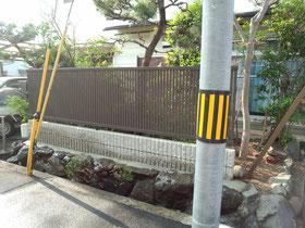 生垣をフェンスに!!エクステリア工事@奈良県大和高田市