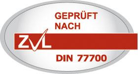 ZVL Zertifikat nach DIN 77700 Quelle :ZVL Zertifizierungsverband der Lohnsteuerhilfevereine e.V