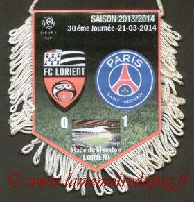 Fanion  Lorient-PSG  2013-14