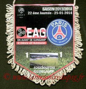 Fanion  Guigamp-PSG  2013-14