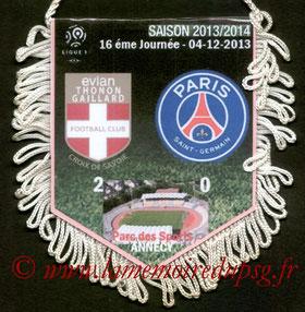 Fanion  Evian-PSG  2013-14
