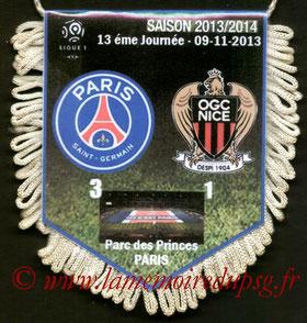 Fanion  PSG-Nice  2013-14