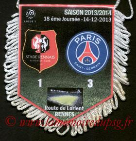 Fanion  Rennes-PSG  2013-14
