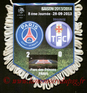 Fanion  PSG-Toulouse  2013-14
