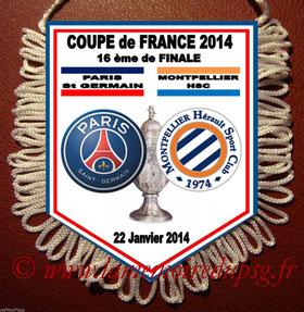 Fanion PSG-Montpellier  2013-14
