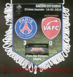 Fanion  PSG-Valenciennes  2013-14