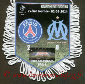 Fanion  PSG-Marseille  2013-14