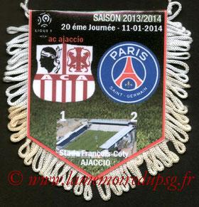 Fanion  Ajaccio-PSG  2013-14
