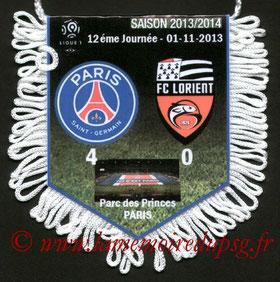 Fanion  PSG-Lorient  2013-14