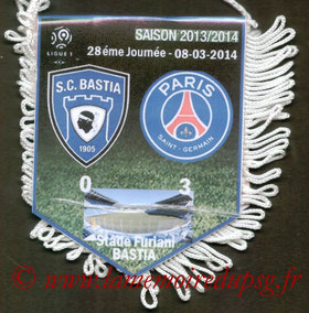 Fanion  Bastia-PSG  2013-14
