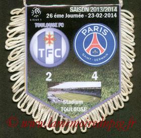 Fanion  Toulouse-PSG  2013-14