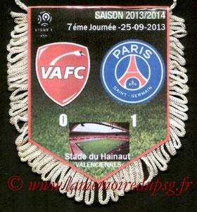 Fanion  Valenciennes-PSG  2013-14