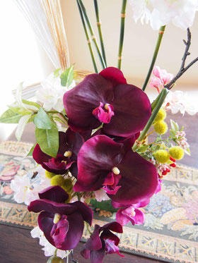 アーティフィシャルフラワー,造花/アレンジメント,お正月飾り,和/シルクフラワー,胡蝶蘭,竹