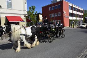 Hochzeitskutsche in Warnemünde, Rostock, Bad Doberan