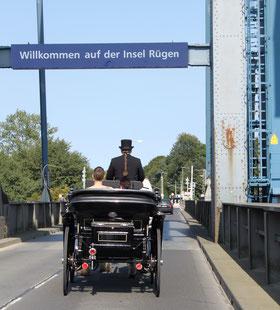 Hochzeitskutsche in Mecklenburg Vorpommern, Rügen, Rügendamm