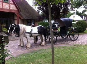 warten auf das Brautpaar während der Trauung - Kirche in Kessin