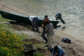 Nettoyage de la rade 2009