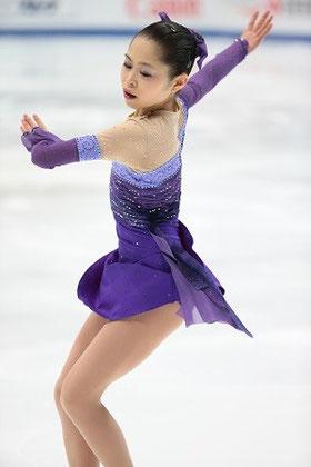宮原知子さん。2014年四大陸選手権ショートプログラム。この時は銀メダルを獲得しました