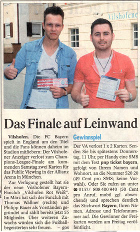 Vilshofener Anzeiger   18. Mai 2013