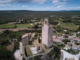 La tour vue du ciel