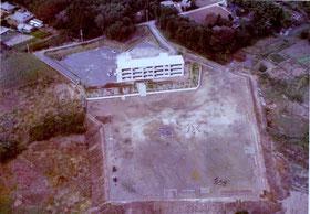 開校当時の校舎全景 S51.10.20