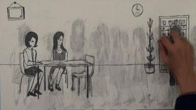 私の痕跡( Traces of other)  / 2010/ビデオ/カラー/4分 作曲:渡辺 裕紀子 音楽タイトル:rutick-tack -tick ヴァイオリン:伊藤真奈子 ピアノ:保科有希 協力:SUKJU Na.