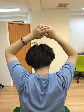施術後の肩の挙上