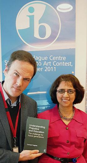 Conrad Hughes and Dr Siva Kumari, Director General of the International Baccalaureate International Baccalaureate Headquarters, The Hague October 2016