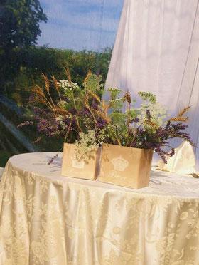 Carote selvatiche, lavanda e grano per Andrea e Lucia