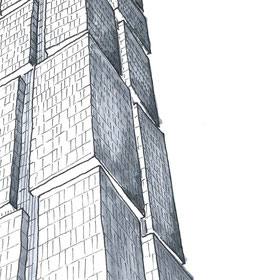 18 Blackfriars Road Residential Tower In London, Sketch by Heidi Mergl Architect, Design by WilkinsonEyre