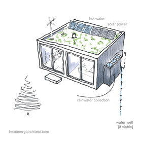 An Off Grid Small Footprint Home by Heidi Mergl Architect