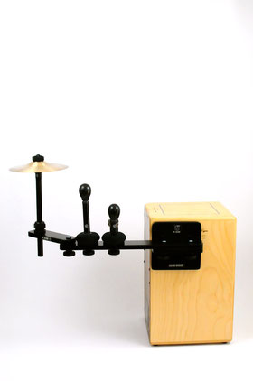cajon sound bridge shaker jingle cymbal splash tools zusatzinstrument spielen add on