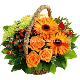 Цветы в корзине в подольске