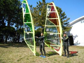 横浜 海の公園2 スクール画像1 ウインドサーフィン SUP 始めるなら神奈川県横浜市金沢区 海の公園のスピードウォール
