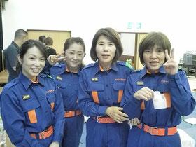 当日参加した女性消防団員と