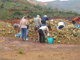Ramassage de pierre en Nouvelle Calédonie