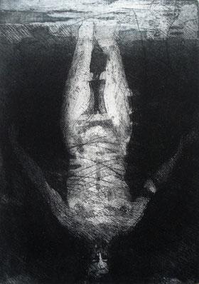 Ceramolle, acquatinta e puntasecca cm 21,7 x 14,7 anno 2014