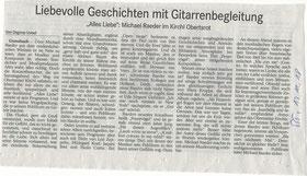 Konzert-Nachlese aus dem Badischen Tagblatt