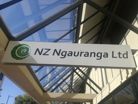 NZ Ngauranga Ltd sign Moray Place, Otago House, Dunedin, Otago, NZ