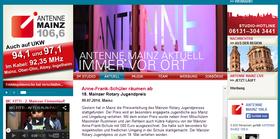 Bericht auf antenne-mainz.de (Screenshot)