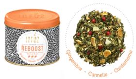 """Infusion """"Reboost"""" au mélange épicé de cannelle, cardamome et gingembre"""