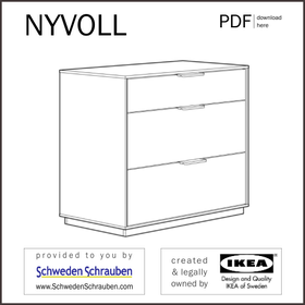 NYVOLL Anleitung manual IKEA Kommode