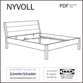 NYVOLL Anleitung manual IKEA Bettgestell